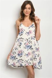C24-A-2-D8199 OFF WHITE FLORAL DRESS 2-2-2