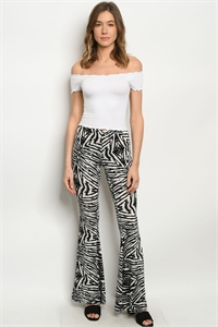 C12-A-1-P7795 BLACK WHITE PANTS 3-2-1