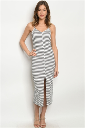 S12-6-2-D6053 WHITE STRIPES DRESS 2-2-2