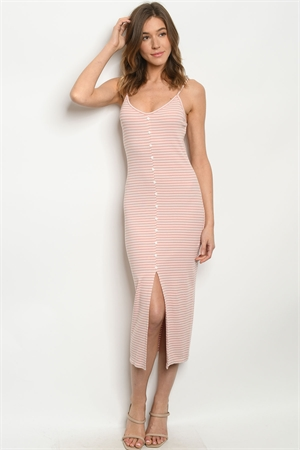S12-6-2-D6053 BLUSH STRIPES DRESS 2-2-2