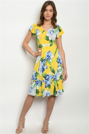 C73-A-2-D1702319 YELLOW FLORAL DRESS 2-2-2