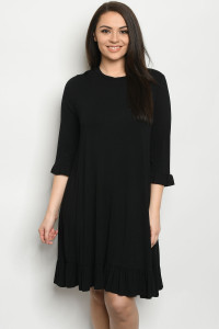 C83-A-1-D038X BLACK PLUS SIZE DRESS 2-2-2