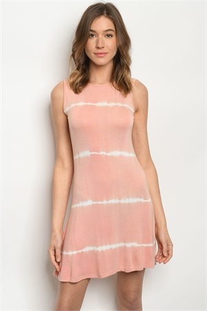 S15-11-4-D317 MAUVE TIE DYE DRESS 2-2-2