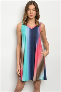 C60-A-1-D3971S MULTI COLOR DRESS 2-2-2