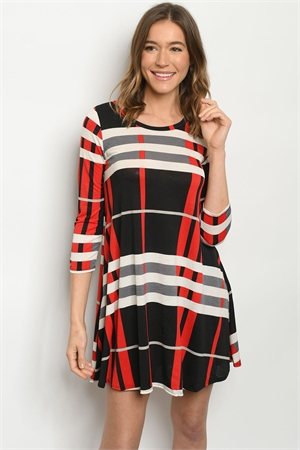 C72-A-1-D4321S BLACK RED DRESS 2-2-2
