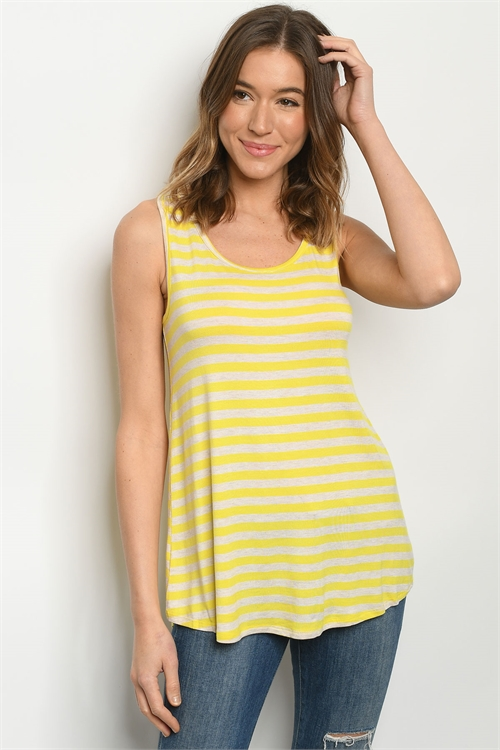 C14-B-1-T1801115 YELLOW OATMEAL STRIPES TOP 1-3