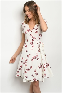 C7-A-3-D64960 OFF WHITE FLORAL DRESS 2-2-2