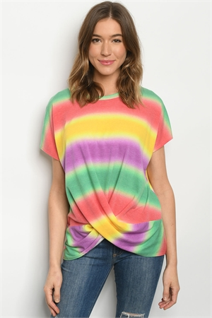C14-B-2-T3783S MULTI COLOR TOP 2-2-2
