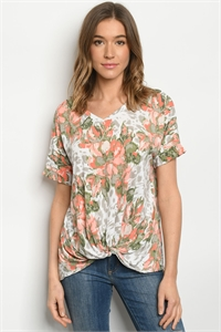 C23-B-1-T5140S CORAL GREEN TOP 3-2-2