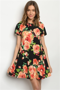 C27-A-1-D5160S BLACK ORANGE DRESS 3-2-2
