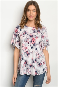 C20-B-3-T39277S OFF WHITE NAVY WITH FLOWER TOP 2-2-2