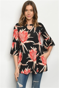 C49-B-1-T3708S BLACK CORAL TOP 2-2-3
