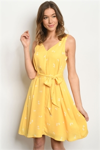 S19-11-3-D6586 YELLOW DRESS 2-3