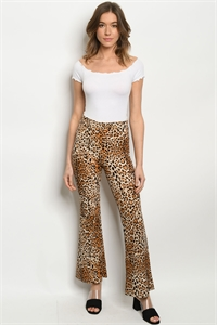C27-A-2-P5085S BEIGE ANIMAL PRINT PANTS 2-2-2