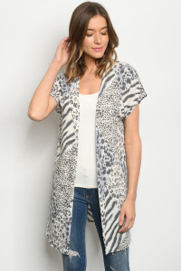 C25-A-1-C5137S OFF WHITE ANIMAL PRINT CARDIGAN 3-2-2