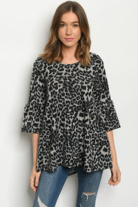 C65-A-1-T5042S ANIMAL PRINT TOP 3-2-2