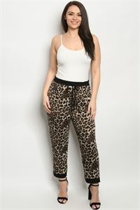 C33-A-3-P5019XS BLACK ANIMAL PLUS SIZE PANTS 2-2-2