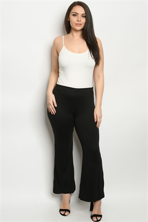 C7-A-2-P5085XS BLACK PLUS SIZE PANTS 2-2-2