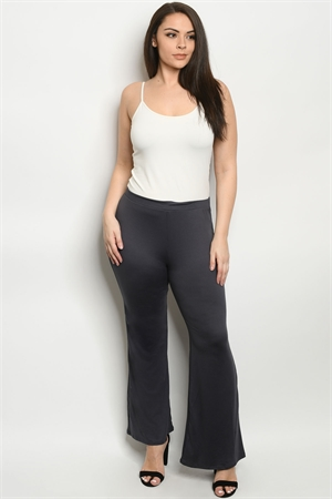 C7-A-1-P5085XS CHARCOAL PLUS SIZE PANTS 2-2-2