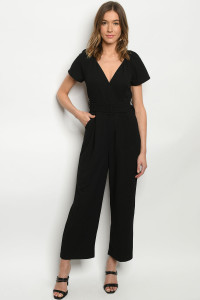 S10-8-1-J2144 BLACK JUMPSUIT 3-2-1