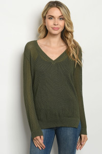 S13-1-1-T8124 OLIVE TOP 2-2-2