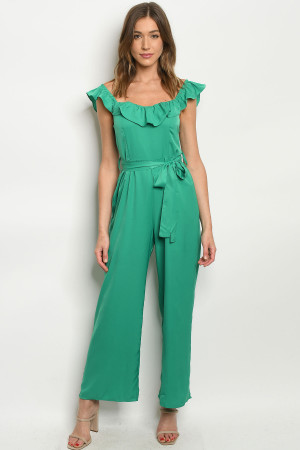 S10-9-2-J81229 GREEN JUMPSUIT 2-2-2