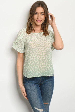 S17-8-3-T51023 IVORY SAGE TOP 1-1-1