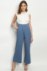 S7-10-1-J49327 WHITE BLUE JUMPSUIT 2-2-2