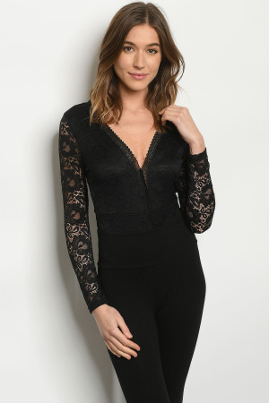 S7-2-2-B32577 BLACK BODYSUIT 2-2-2