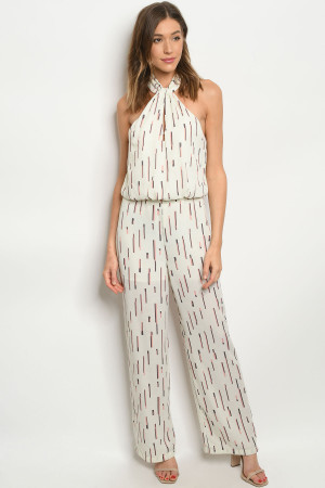 S7-9-2-J7449 OFF WHITE STRIPES JUMPSUIT 3-2-1