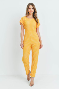 S15-9-2-J53801 YELLOW STRIPES JUMPSUIT 1-3-4
