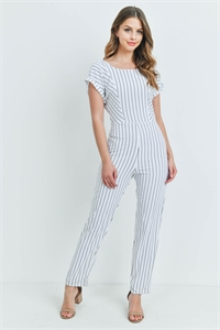 S8-13-2-J53801 OFF WHITE STRIPES JUMPSUIT 2-2-2
