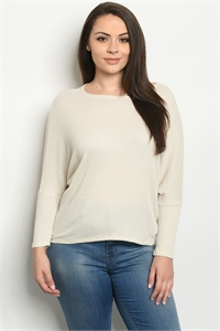 C75-A-1-T1973X IVORY PLUS SIZE TOP 2-2-2