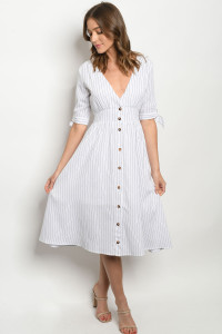 S8-12-3-D41686 WHITE STRIPES DRESS 2-2-2