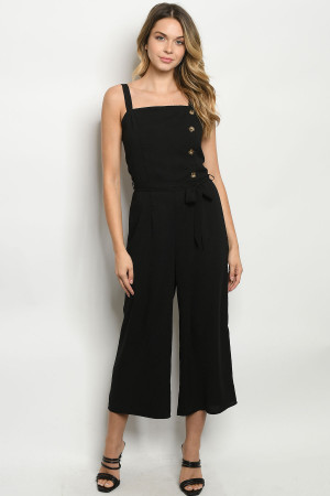 S25-5-2-J6868 BLACK JUMPSUIT 2-2-2