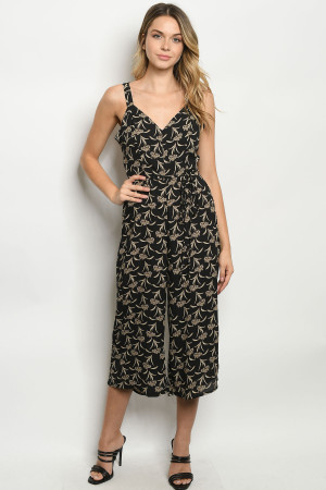 S22-12-3-J6432 BLACK PRINT JUMPSUIT 2-2-2