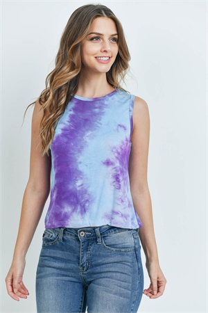 S23-5-2-T5517 PURPLE TIE DYE TOP 2-2-2