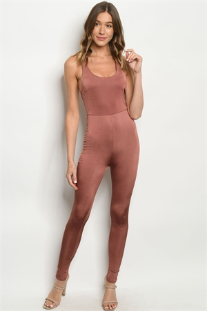 C4-A-2-J1143 BROWN JUMPSUIT 2-2-2