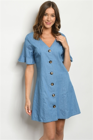 S23-4-1-D41740 BLUE DENIM DRESS 2-2-2