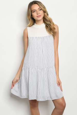 S21-12-2-D41866 OFF WHITE STRIPES DRESS 2-2-2