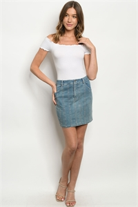 S4-10-2-S5032 LIGHT DENIM SKIRT 3-2-1
