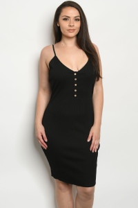 C9-A-1-D13026X BLACK PLUS SIZE DRESS 2-3-3