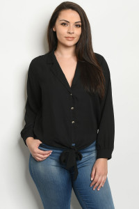 S20-10-1-T9976X BLACK PLUS SIZE TOP 2-2-2