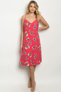 S24-4-2-D50147 FUCHSIA FLORAL DRESS 1-2-2-2-1
