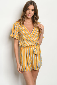 C6-A-2-R12414 YELLOW STRIPES ROMPER 2-2-2