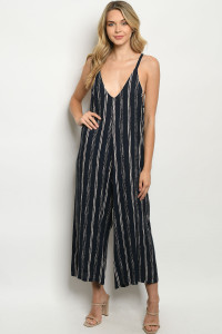 C37-A-1-J5819 NAVY STRIPES JUMPSUIT 2-2-2