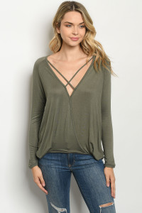 C15-A-3-T4298 OLIVE TOP 2-2-2
