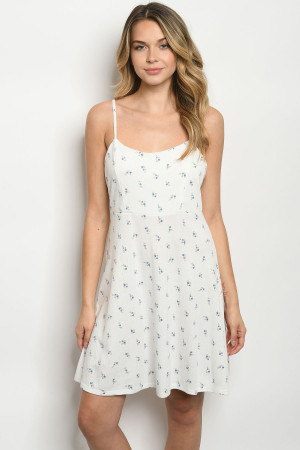 C36-A-1-D3583 OFF WHITE PRINT DRESS 2-2-2