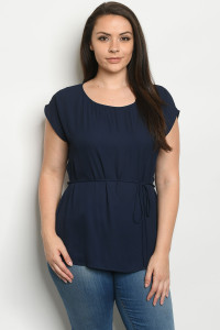 C10-A-1-T7134X NAVY PLUS SIZE TOP 2-3-1