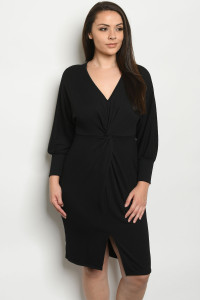 C96-A-1-D3049X BLACK PLUS SIZE DRESS 2-2-2